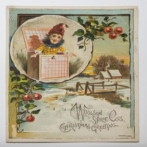 A chromolithograph from Blaul Co., an Out of the Attic item, is shown at the Des Moines County Historical Society, 504 N. Fourth St., in Burlington.