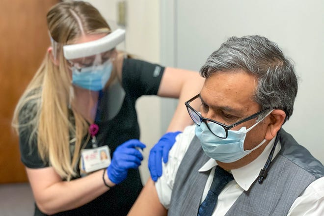 The Knox County Health Department's initial allotment of COVID-19 vaccine arrived at OSF St. Mary Medical Center and Galesburg Cottage Hospital on Dec. 16, 2020.