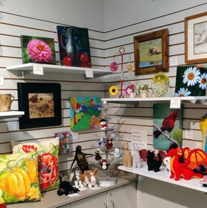 The Hutchinson Art Center gift shop offers a number of pieces.