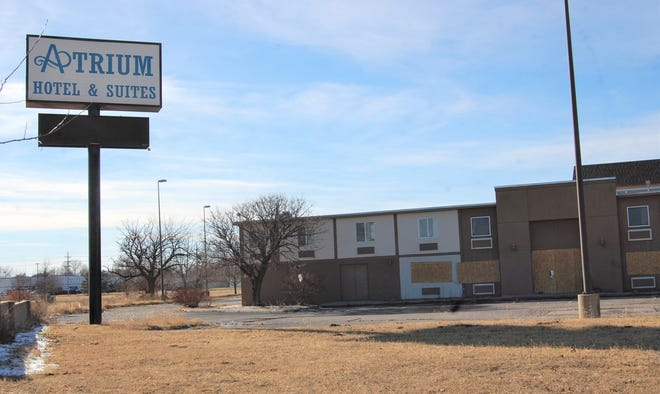 The Atrium Hotel and Convention Center on North Lorraine,  which has been closed since December 2019, was boarded up in recent weeks due to vandalism. The owner of the hotel received a Paycheck Protection Program loan on the property in April.