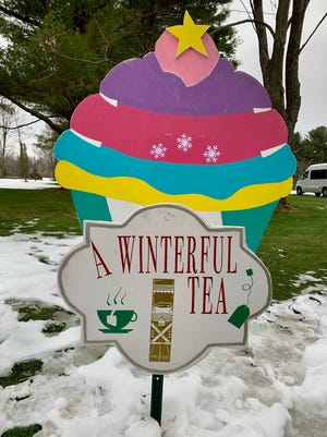 Signs for the Winterful Tea Party were donated by Hudson small business, Sassy Grass DeSigns, which is owned by Hudson resident Mara Teti.