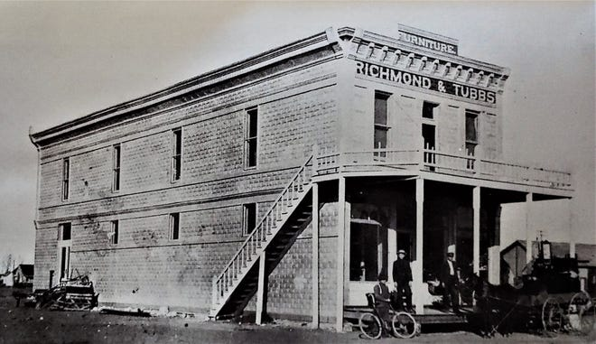 The second-floor Band Hall, northeast corner of Broadway and Ave J, was the site of Lubbock's first film experience in 1907.