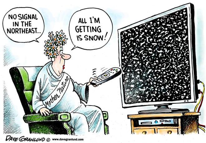 Dave Granlund cartoon on snowstorm