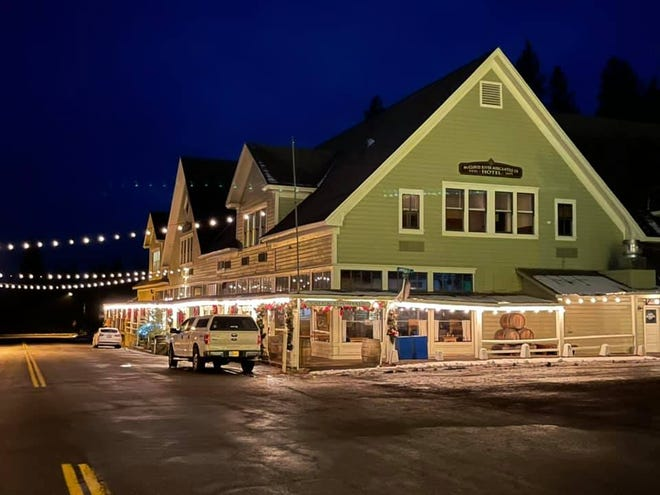 McCloud homes and businesses are all lit up for the holiday season.