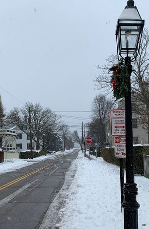 It was a quiet morning on Washington Street in Newport on Thursday. A parking ban was instituted in various parts of the city.