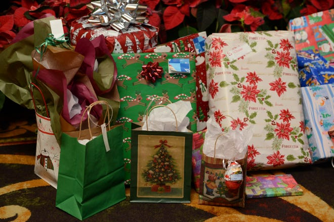 Wrapping paper is an item that would be placed in your curbside recycling bin.