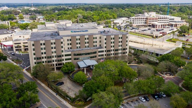 AdventHealth Ocala is seen in the foreground, while Ocala Regional Medical Center is shown in the background in this file photo. The Leapfrog Group recently released their fall hospital grades giving AdventHealth Ocala a B and ORMC a C.