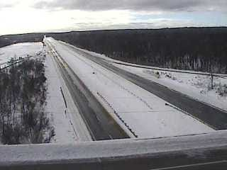 A view of I-380 near Exit 3/Route 940 in Pocono Summit on Thursday morning. PennDOT restrictions remain on select highways in the Poconos.