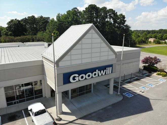 The Goodwill store off South Crater Road in Petersburg is shown in this undated photo. A Goodwill Inajor watdustries spokeswoman says the store has had to be completely renovated after it sustained major water damage related to an alleged arson in November.