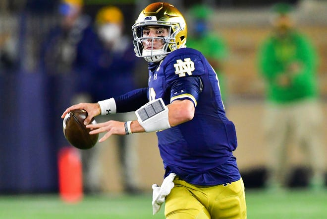 Quarterback Ian Book leads second-ranked Notre Dame against fourth-ranked Clemson in Saturday's ACC championship game.