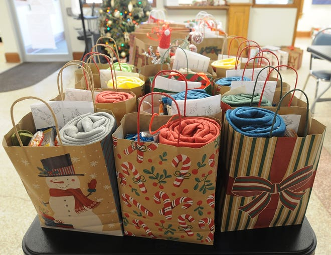Christmas bags full of essential items were assembled by volunteers of the Salina Senior Center and were delivered to those seniors in need who are on the Meals on Wheels program. There were 206 Christmas bags, all of which included a Christmas card made by local elementary school students and other items that were donated by the Salina Area United Way, Masons and private donors.