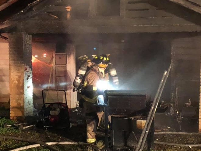 Shelby Fire and Rescue and other firefighters responded to a house fire on the 1100-block of Buffalo Street in Shelby Wednesday morning.