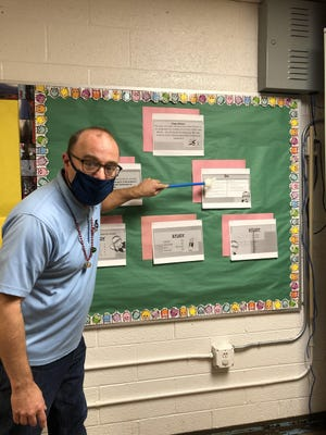 Mr. Jutras 5th Grade Class models the P-D-S-A Cycle. [CONTRIBUTED PHOTO]