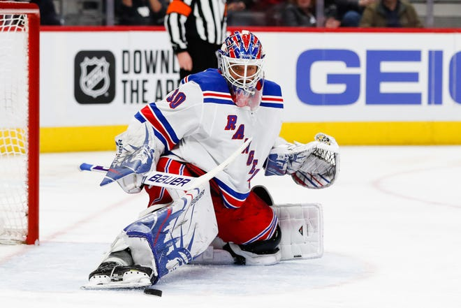 Henrik Lundqvist was bought out by the Rangers after 15 seasons and signed a $1.5 million, one-year deal with the Capitals in October.