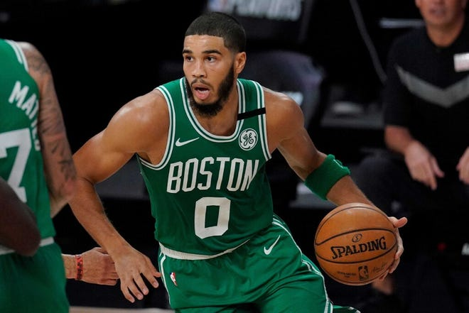 The Celtics' Jayson Tatum is averaging 26.9 points per game, which ranks eighth in the NBA.