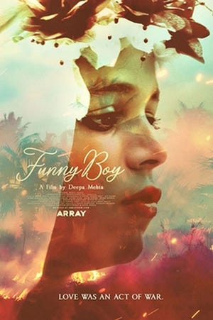 """The promotional poster for """"Funny Boy."""""""
