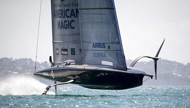 American Magic is one of three challengers from the United States, Italy and Britain which will emerge to race defender Team New Zealand for the America's Cup in the 36th regatta in March.