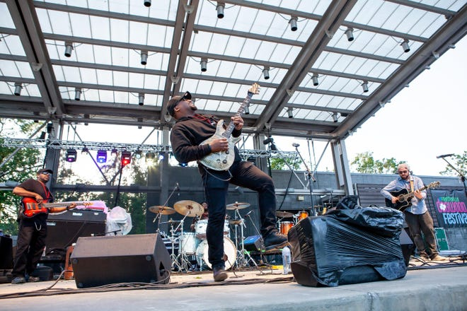 Lotus Sun performs Friday, April 27, 2019, at the Fayetteville Dogwood Festival in Festival Park.