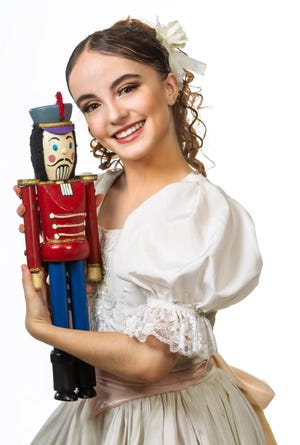 """Children can join the charming Clara, heroine of the """"Nutcracker"""" ballet, for a princess-style ballet class onstage in the Kingdom of the Sweets on Saturday and Sunday at the Phillips Center. [Photo submitted by Dance Alive National Ballet]"""