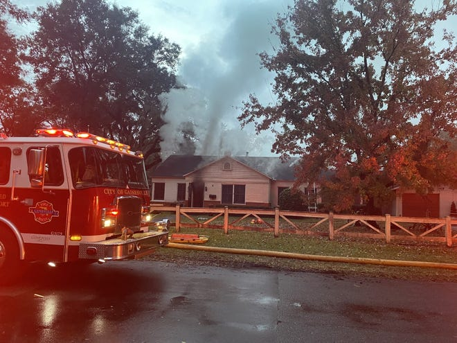 Gainesville Fire Rescue put out a fire at a home at 906 NW 10th St. Wednesday evening.