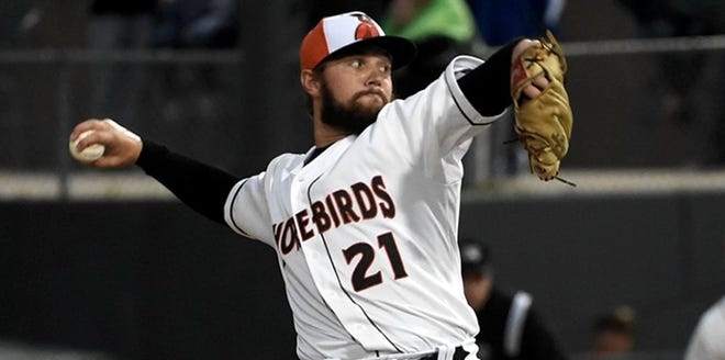 Gray Fenter, a West Memphis native, is shown pitching in 2019 for the Delmarva Shorebirds, a Baltimore Orioles' Class-A affiliate. Fenter, whose late grandparents both resided in Charleston, was recently selected by the Chicago Cubs in the Major League Baseball Rule 5 draft.