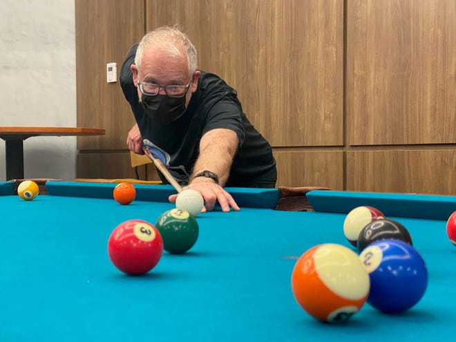 Longtime Westerville resident Dave Vargo regularly plays pool at the Westerville Community Center, 350 N. Cleveland Ave., through the older-adult program offered by Westerville Parks & Recreation.