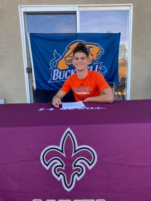 Adelanto High School defensive back Mason Taylor signed his National Letter of Intent on Wednesday to attend Bucknell University.