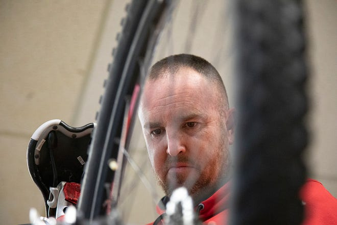 Matt Cox, along with Joe Lawhorn, runs a bike shop at the Chillicothe VA that loans bikes out to the community.