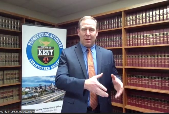 Kent County Prosecutor Attorney Chris Becker discusses investigation into former state prosecutor Brian Kolodziej
