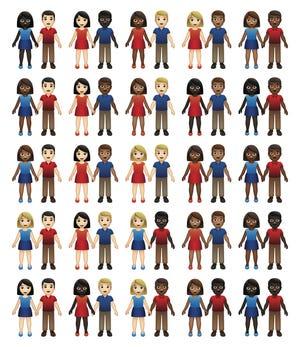 Koleksi emoji pasangan.
