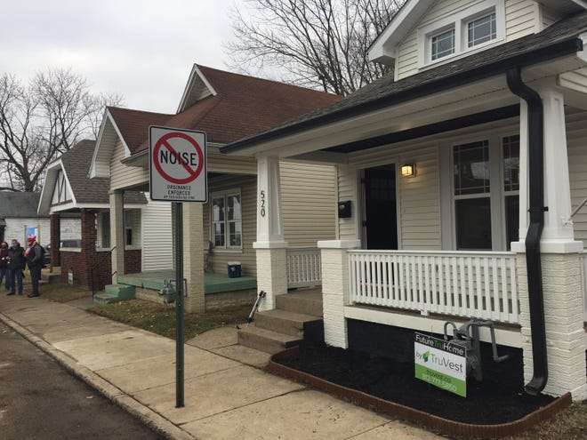 TruVest is rehabilitating four houses in the 500 block of Bayard Park Drive in Evansville. They will be available for purchase by income-qualified individuals or families.