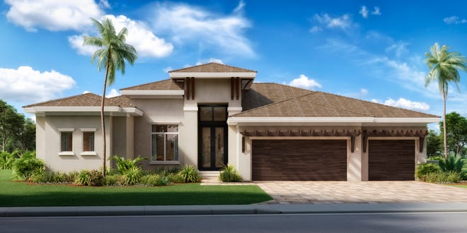 Vittoria, a golf-course-view pool spec home at The Club at Renaissance, is expected to be complete by spring 2021.