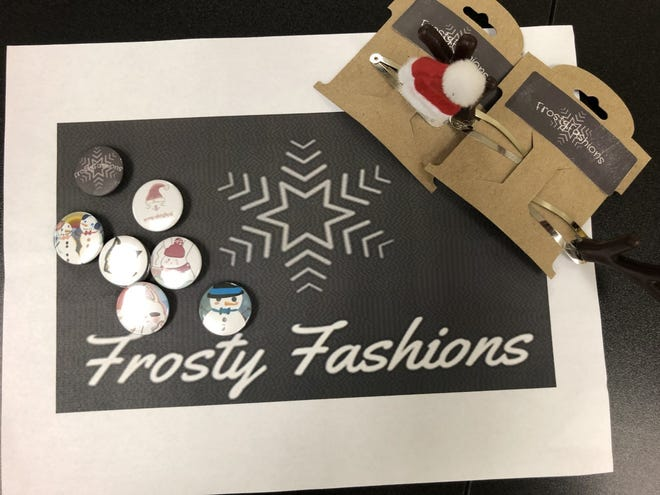 Frosty Fashions, an entrepreneurial team at Cypress Palm Middle School, developed these products this semester.