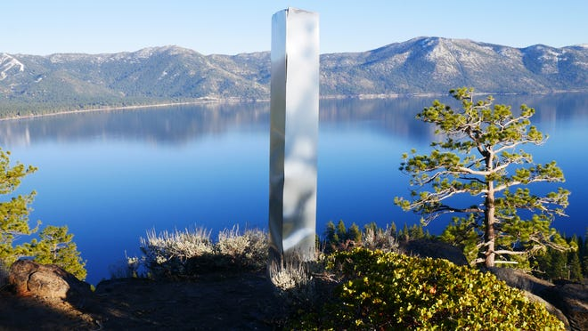 David Muther and a friend constructed a monolith above Crystal Bay as a hoax.