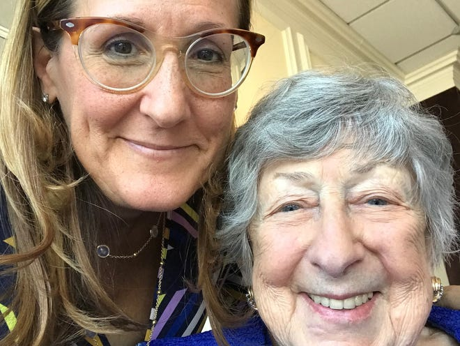 Longtime Democrat and Chronicle Suburban Outlaw columnist Pam Sherman, left, is pictured with her mother Sharon Mansfield Weinstein, who died Dec. 8, 2020.