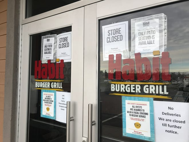 Habit Burger Grill in Redding has been closed for about a week.