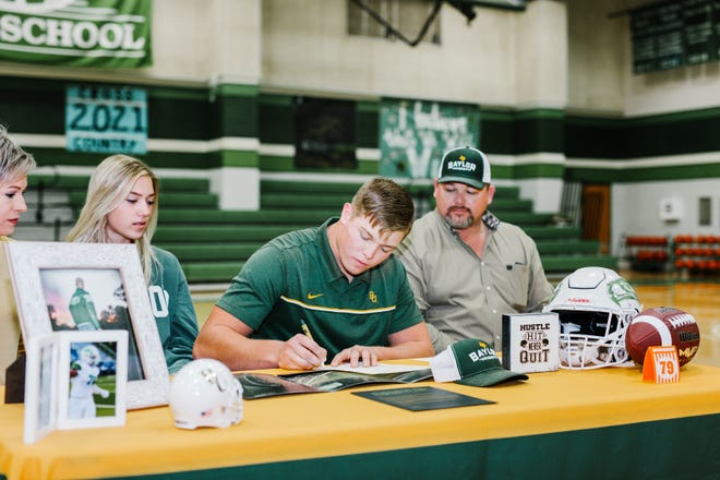 Wall High School senior Tate Williams signed to play football at Baylor University on Wednesday, Dec. 16, 2020.