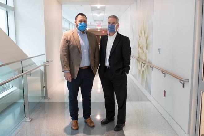 Tallahassee Memorial Healthcare Chief Clinical Officer Ryan Smith and Physician and Clinical Leader Dr. Dean Watson
