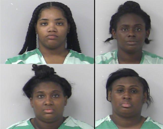 Kenaija Collins (top left), Turkeshia Rhett (top right),  Keyshyra Rhett (bottom left) and Lakeria Dennard (bottom right).