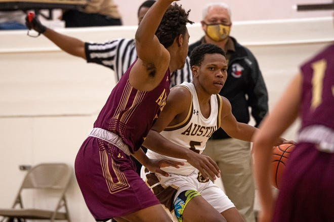 Austin High School defeated Andress High School 68-61 on Dec. 15, 2020. Austin is now 2-0 in district 1-5A boys basketball.