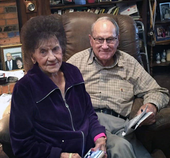 Irene and Gordon Wallace will be married for 75 years on December 26.