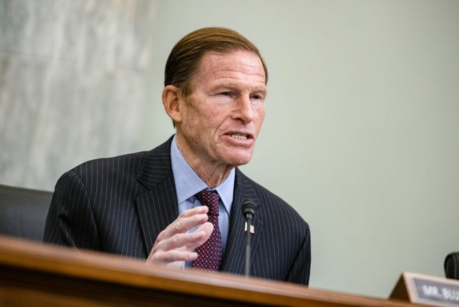 Sen. Richard Blumenthal is one of two Senators that are introducing legislation Thursday that would dramatically alter the compensation and treatment of athletes in major-college sports programs.