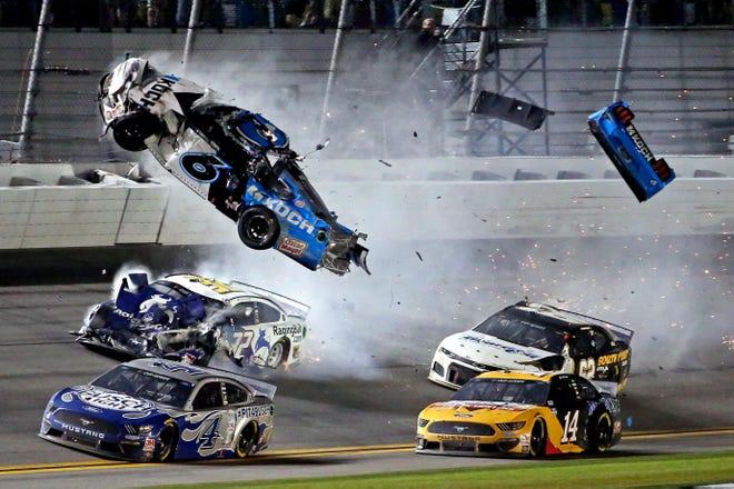 Feb. 17: NASCAR Cup Series driver Ryan Newman wrecks during the Daytona 500.