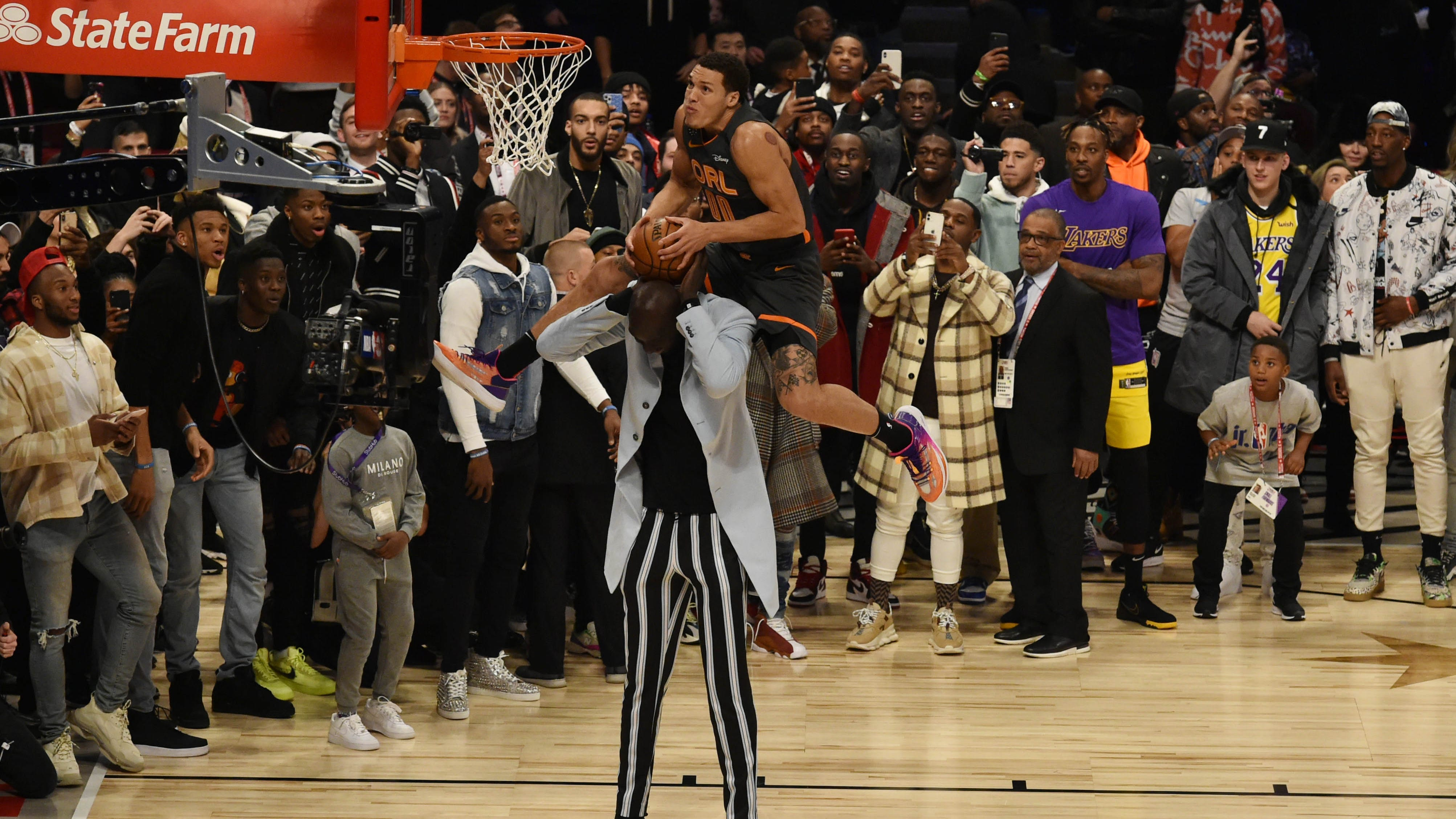 When Magic forward Aaron Gordon finished a dunk over Boston's Taco Fall in the 2020 NBA slam dunk contest, Milwaukee's Giannis Antetokounmpo said,