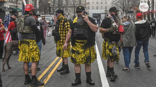 The Proud Boys were seen wearing kilts made by LGBTQ-owned clothing company Verillas. Here's how the company responded.