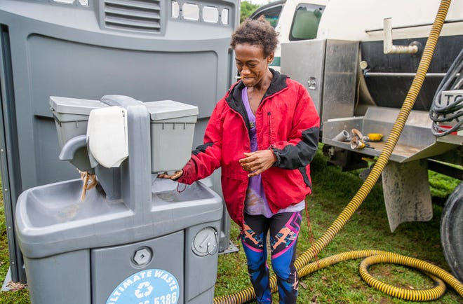Levon Shyrell was living homeless in Austin earlier this year. The city's annual count of unsheltered people has been canceled due to safety concerns related to the COVID-19 pandemic.