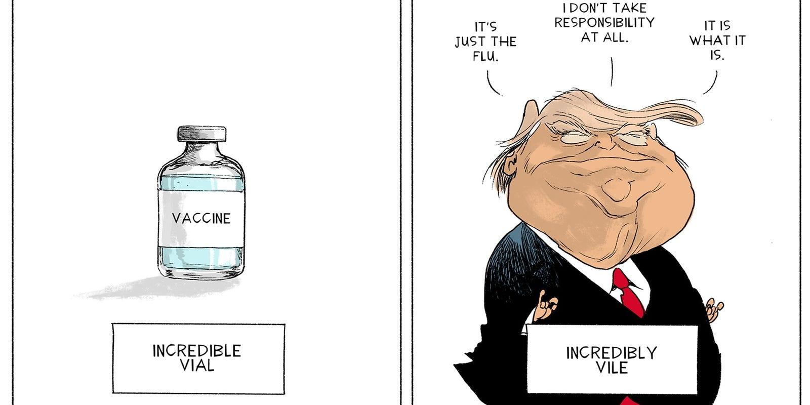 Editorial Cartoon Incredible Vial