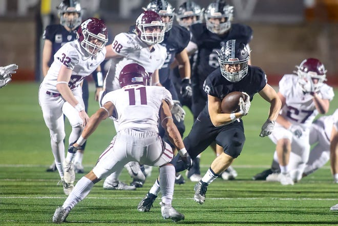 Vandegrift senior Bowen Lewis showed his explosiveness last week with 167 yards rushing and 70 yards receiving in a 45-24 win over Austin High in the first round of the Class 6A Division II playoffs. The Vipers will face San Antonio Roosevelt on Saturday at Shelton Stadium.
