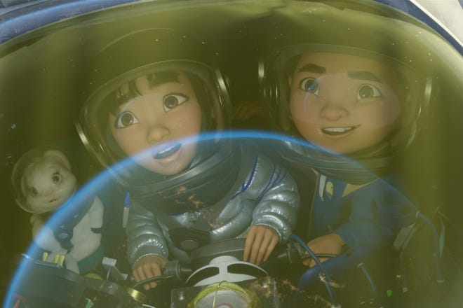 """A promotional image from the Netflix original animated feature, """"Over the Moon."""""""