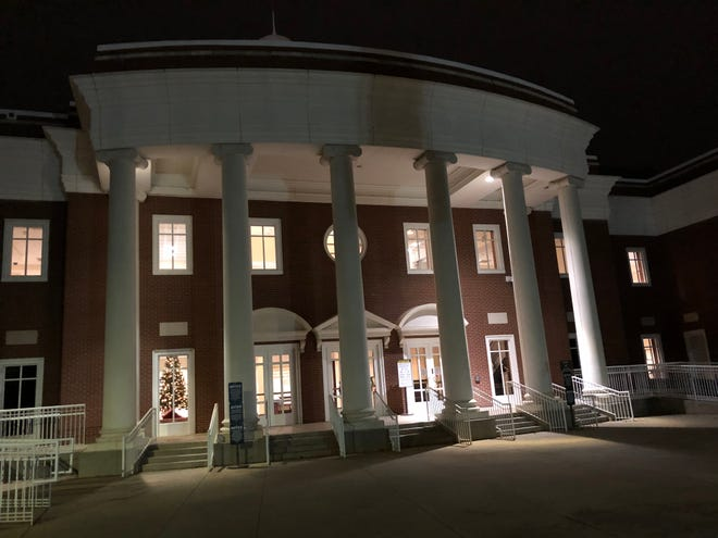 The Columbia County Judicial Center is seen at night in this December 2020 photo. The Evans courthouse would become the center of the judiciary there if Columbia succeeds in breaking off from the Augusta Judicial Circuit.